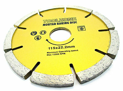 Mortar Raking Diamond Disc Masonry  Pointing Raker   115x22.2x6MM  New TZ AB090