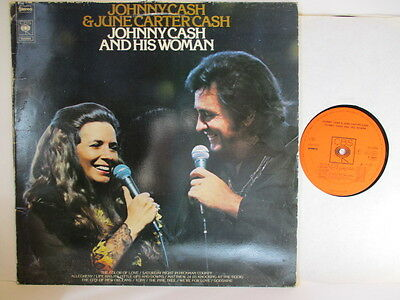 """JOHNNY CASH & JUNE CARTER 12"""" : JOHNNY CASH AND HIS WOMAN     70er"""