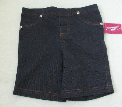 Extremely Me Kids Girls Denim Jeggings Blue Jeans shorts comfy & stretchy sz 4