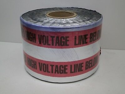 """BURIED HIGH VOLTAGE LINE BELOW"" Detectable Underground Warning Tape 6"" x 1000ft"