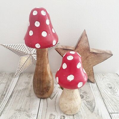 Sass /& Belle Shabby Chic Painted Wooden Fairy Toadstool Standing Decoration