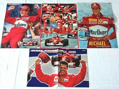 4 MICHAEL SCHUMACHER - Poster! collection Sammlung A3 Ferrari Weltmeister Schumi