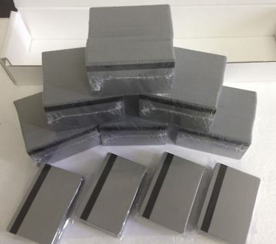 25 UltraCard SILVER CR80 .30 mil - PVC Cards Hi Co 2 Track Magnetic Stripe- USA