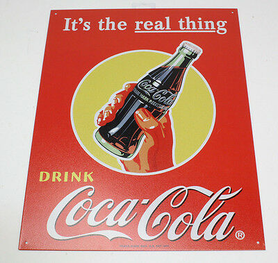 """Coca-Cola It's the real thing Rectangular Sign 16"""" X 12 1/2"""""""