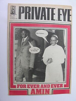 PRIVATE EYE 19 September 1975 No 359 Idi Amin Pope Paul VI For Ever & Ever Amin
