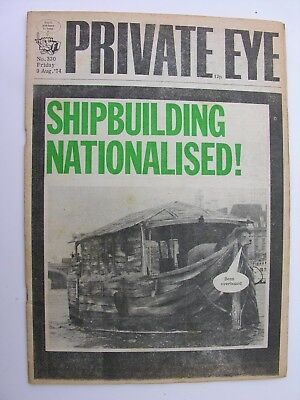 PRIVATE EYE 9 August 1974 No 330 Tony Benn Shipbuilding Nationalised Tate & Lyle