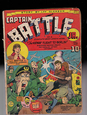 Captain Battle 1 WWII Cover Ray Miller Collection glue spine & tape paper repla