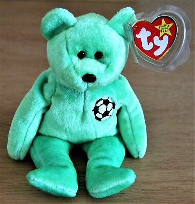 Ty Beanie Babies Collection Kicks 1998/1999 w/ Plastic Box Retired Tag Errors