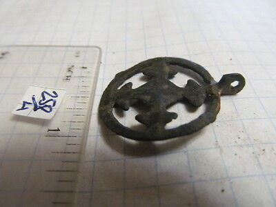 "Ancient bronze pendant ""Cross in circle"" Kievan Rus Vikings 9-13 АD № 258/4."