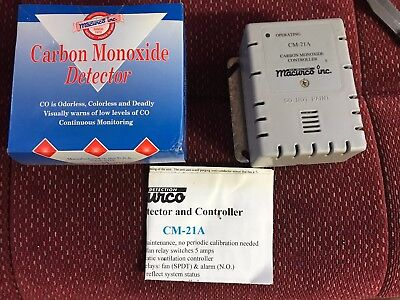 Industrial Macurco CM-21A Carbon Monoxide Detector Controller New in Open Box