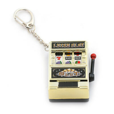 Mini Slot Machine Game Flashing Key Chains Lucky Charm Key Chain AB