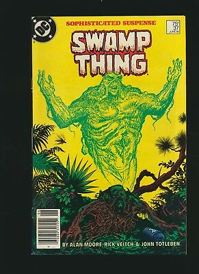 Swamp Thing #37, 8.0/VF, Alan Moore, Newsstand Edition