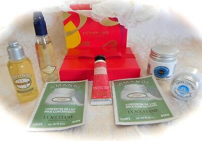 *NEW* 7-PIECE TRAVEL SIZE L'OCCITANE BEAUTY PRODUCTS in GIFT BOX w/$10 COUPON