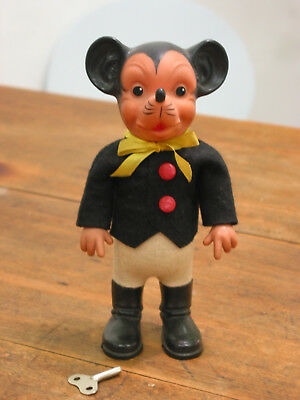 Mechanische Tanzfigur Micky Maus Mickey Mouse Max Carl 60er Jahre