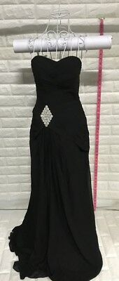 Womens Sweetheart Mermaid Long Evening Dress Formal Prom Gowns, Black