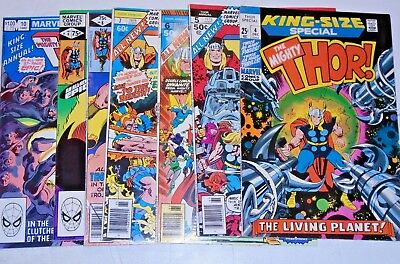 Thor King Size Annual #4,5,6,7,8,9,10 comic lot (FN)