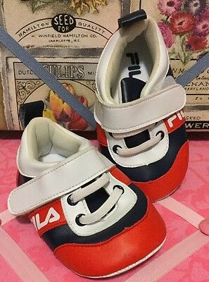 A Very Cool Pair Of Vintage Style Fila Toddler Shoes US Size 8