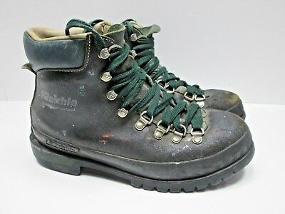 6fc9940cb87 VINTAGE RAICHLE SWITZERLAND Men's Mountaineering Hiking Boots Size 8.5