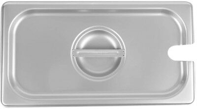 1/3 Size Stainless Steel Steam Table Buffet Hotel Slotted Pan Lid Cover (6 Pack)