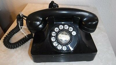 Vintage 1920-30 North Electric US Army TP-6-A Rotary Dial Desk Set Phone WORKING