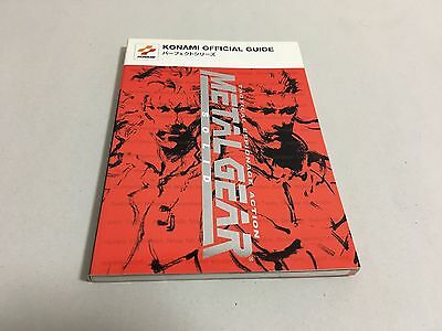 Metal Gear Solid Official Perfect Guide Book Sony PlayStation Japan KONAMI