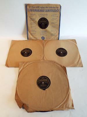 Small Collection of x4 Vintage/Antique Columbia 78rpm Lp's Inc Josef Locke