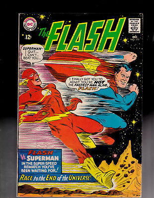 Flash 175 2nd Races Superman rust on staples