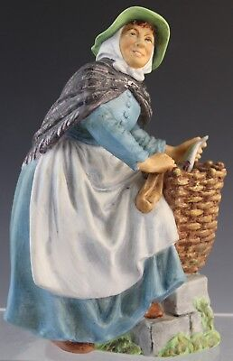 Vintage Royal Doulton Old Meg English Bisque Porcelain Figurine HN 2494