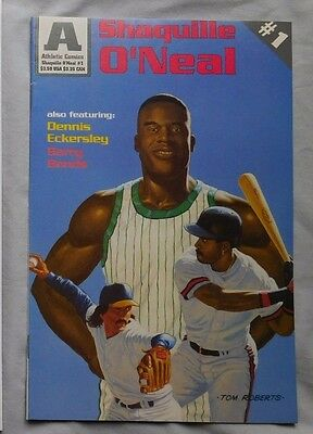 1993 Shaquille O'neal Barry Bonds Dennis Eckersley Athletic Comic Book