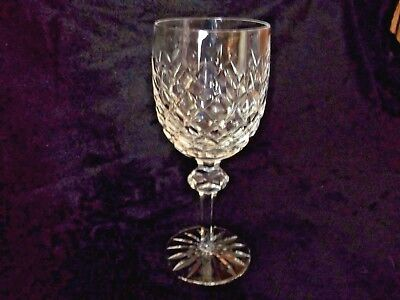"""Waterford Powerscourt Crystal Water Wine Goblets Glasses 7-5/8"""" Cut Mint"""