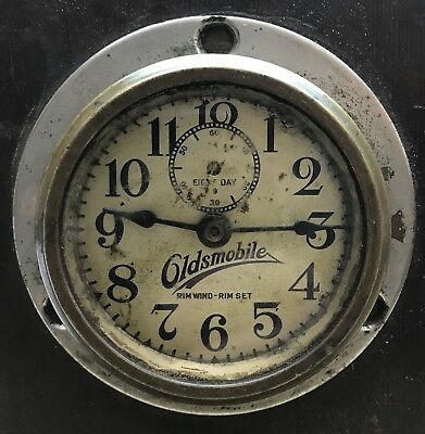 Vintage Phinney Walker Oldsmobile Automobile Clock Rim Wind Rim Set