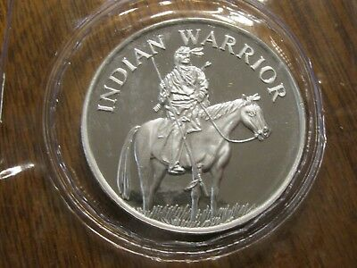 Indian Native American Warrior on Horse 1 OZ .999 Fine Silver Round Coin SEALED