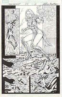 New Mutants Forever #4 Page 21 by Al Rio, inks by Bob McLeod, Chris Claremont -w
