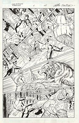 New Mutants Forever #1 Page 8 by Al Rio, inks by Bob McLeod, Chris Claremont - w