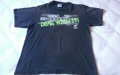 """Vintage D Generation X """"Deal with it"""" T-shirt WWF WWE"""