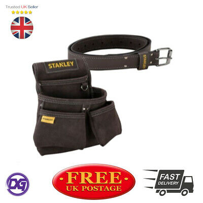 Stanley STA180116 STA180119 Leather Belt + Leather Double Nail Screw Tool Pouch