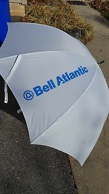 vintage Ma Bell Bell Atlantic telephone co. White Umbrella with cover