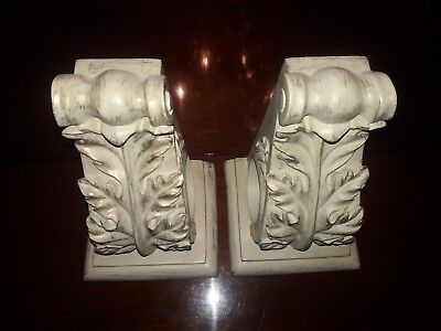 Set Of 2 Resin Drapery Wall Sconces Corbel Curtain Rod Holders