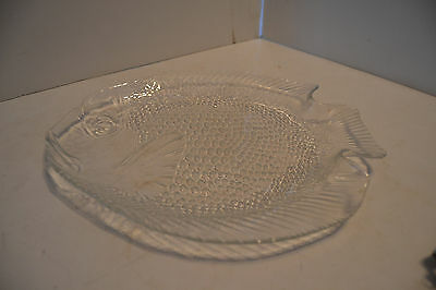 Vintage Luminarc Arcoroc France Fish Platter Glass