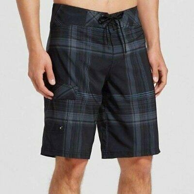 f27d09eacb Mossimo Supply Co. Men's Plaid Board Shorts - Black with Gray - Pick Size