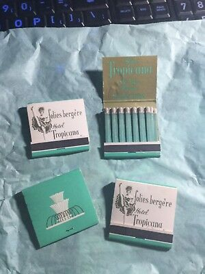 Rare Vintage Matches Folies Bergere Hotel Tropicana Las Vegas NV UNSTRUCK Lot