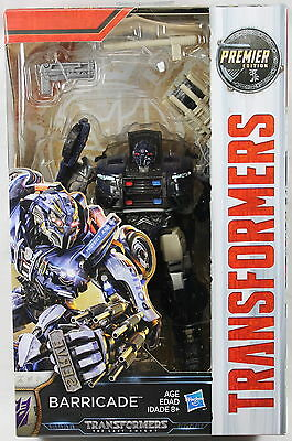 Transformers: The Last Knight Premier Edition Deluxe Barricade Action Figure
