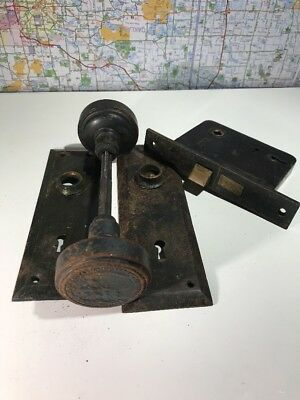 Antique Detroit Board of Education City of Detroit c.1920 Door Knob