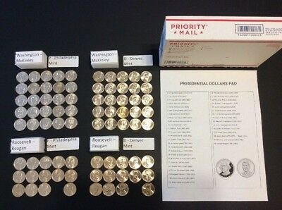 2007-2016 Presidential Dollar P&D 78 Coins - Complete Set - PD $1