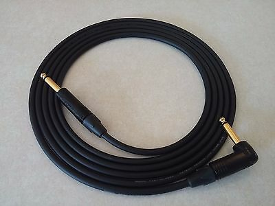 Mogami 2524 Guitar Instrument Cable 2 Foot Straight to Right Angle Neutrik Gold