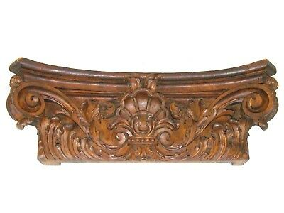 Antique Hand Carved Wood Italian Pilaster Capital Architectural Joseph Dux CHI