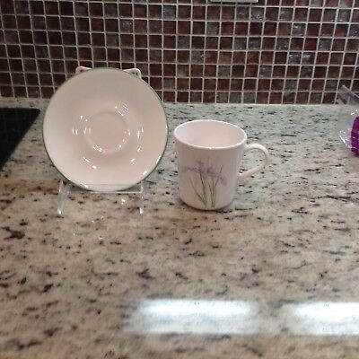Corning Corelle SHADOW IRIS cup and saucer set EUC Made in USA 4 available
