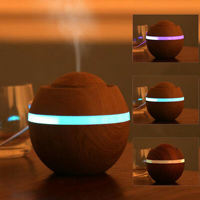 500ml USB Air Aroma Humidifier Ultrasonic LED 7 Colors Essential Oil Diffuser US