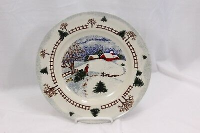"Folkcraft Winterside Dinner Plates 10"" Set of 8"