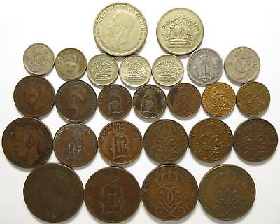 No reserve! Sweden Coin lot! Older Ore coins, 1850's to 1940's